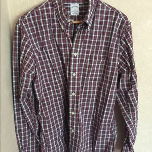 Brooks Brothers Original Polo Shirt Red Plaid